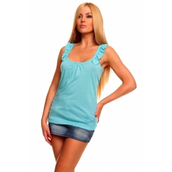 Top Flounce Light Blue