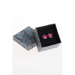Náušnice Butterfly dark pink