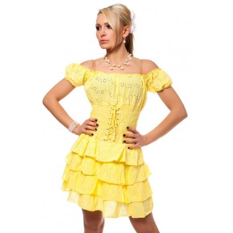 Šaty Karmen yellow