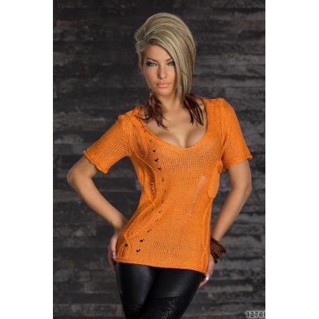 Pulóver Barna orange