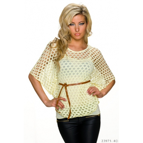 Top s tielkom yellow