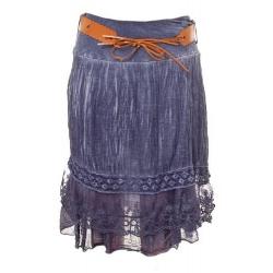 Vrstvená sukňa Taubenblau
