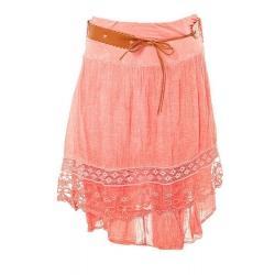 Letná vrstvená sukňa Korall
