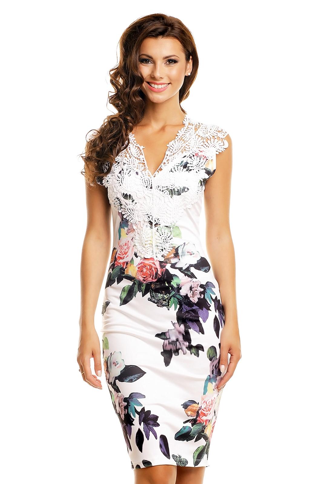 7de41164aa47 Elegantné šaty Beuty White