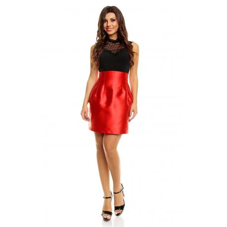 Elegantná sukňa Double Red