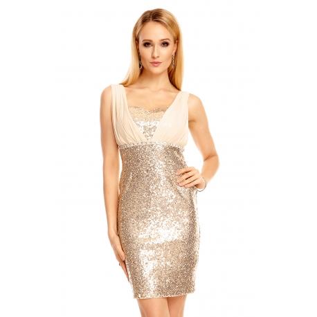 Elegantné šaty Emma gold