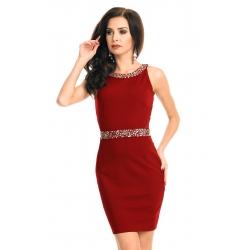 Šaty Emma Ashley  rubín  s kamienkami
