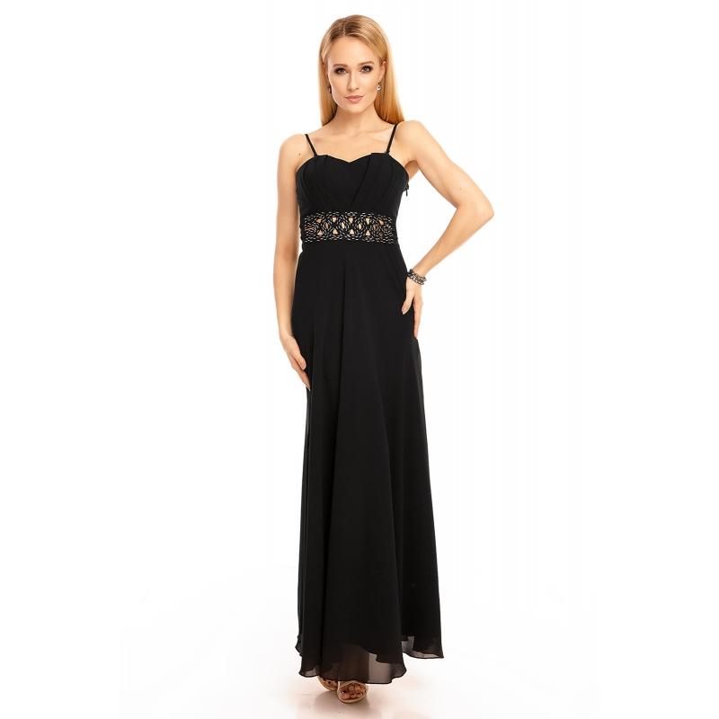 7f619be27cdd Zväčšiť. Predchádzajúce. Šaty Emma Dore black dlhé ...