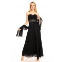 Šaty Emma Dore black dlhé