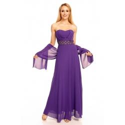 Šaty Emma Dore purple dlhé