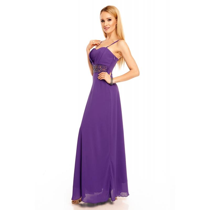 3b41494ac703 ... Šaty Emma Dore purple dlhé ...