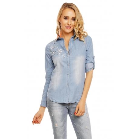 Rifľová košeľa  MIllenium light blue