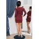 Tunika/šaty  s odhalenými ramenami rubínová červená