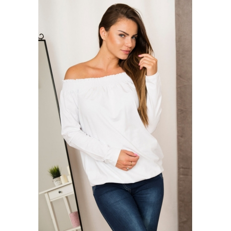 Blúzka/top s odhalenými ramenami white