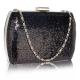 kabelka Sequin black/silver