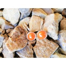 Náušničky porcelánové oranžové