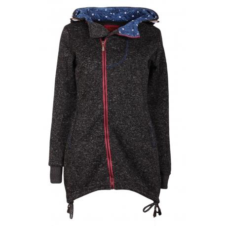 Mikina/kabát tmavý melír