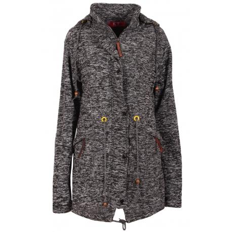 Kabátová mikina melír