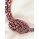 Náhrdelník Uzol fialovo-zlatá