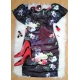 Kvetinkové šaty čierne