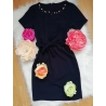Business šaty s perličkami