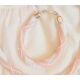 Náramok vzorový ružovo -biely
