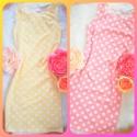 Bodkované šaty Sydney žlté/ružové zn.Cocoviu