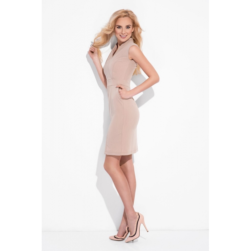 a9d8c07b3237 ... Business šaty Houston beige grey ...
