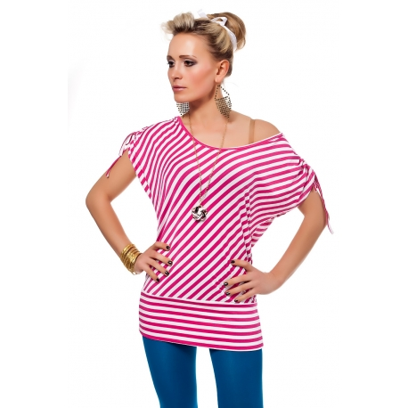Top Moha red/pink